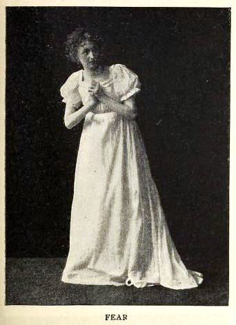 woman posing to show fear