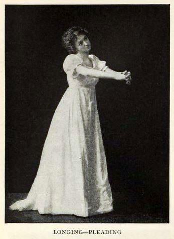 woman posing to show longing