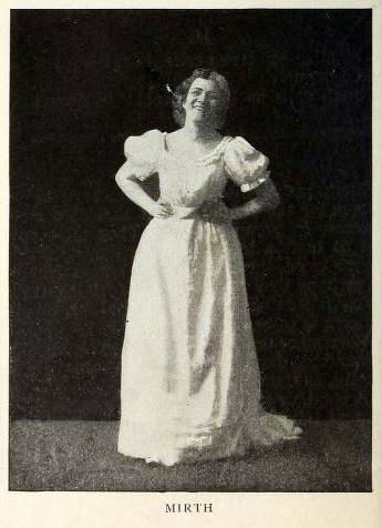 woman posing to show mirth
