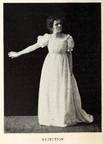 woman posing to show rejection