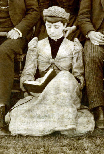Hanover College student, reading (1890)