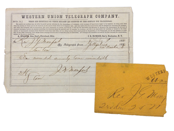 1863 telegram