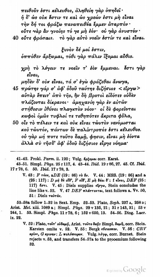 Parmenides: The Eleatic School
